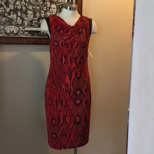 Anne Klein Dress Brand New with Tags Red Snakeskin